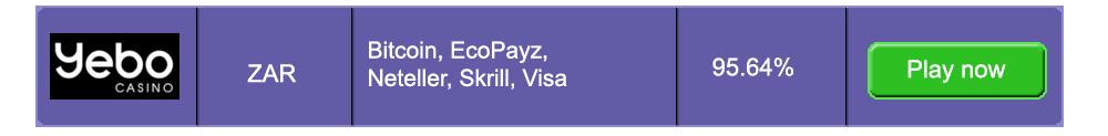 Fast Payouts Yebo Casino