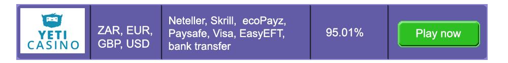 Fast Payouts Yeti Casino