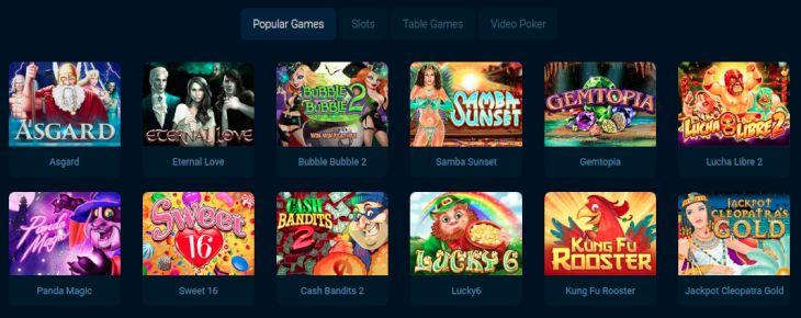 Punt online casino games