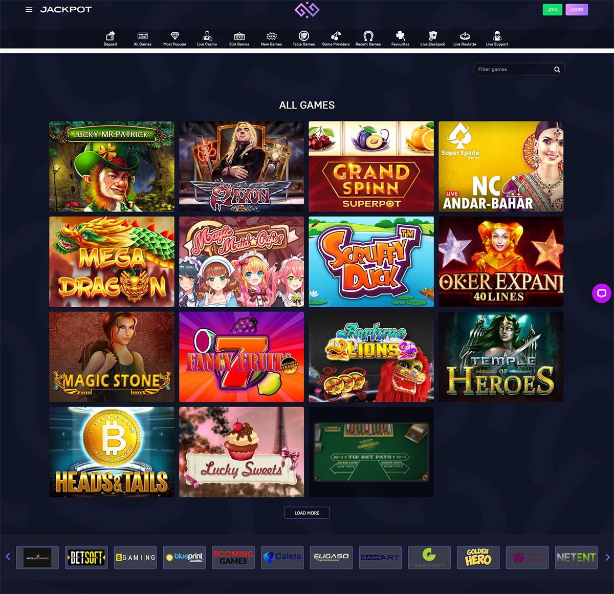 Jackpot casino games