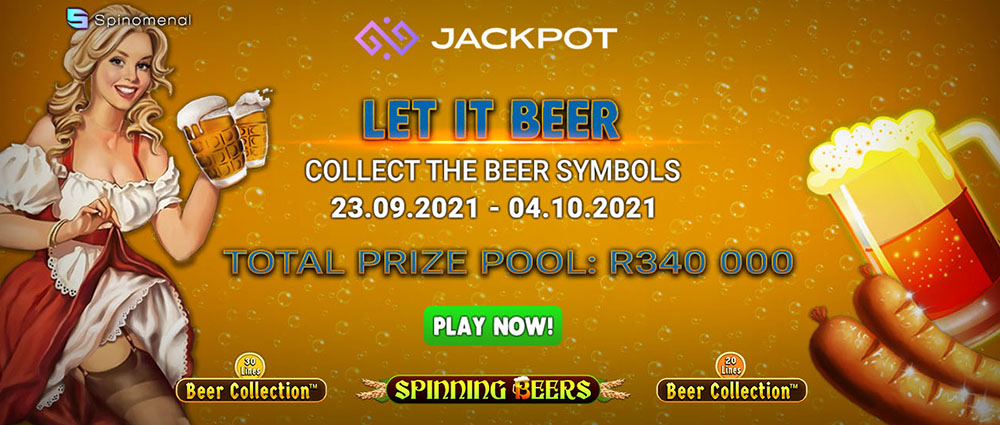 Let it BEER! with the Spinomenal Oktoberfest Slot Tournament